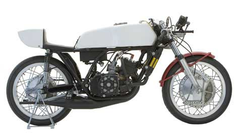Photo of a TZ-350 Motorcycle