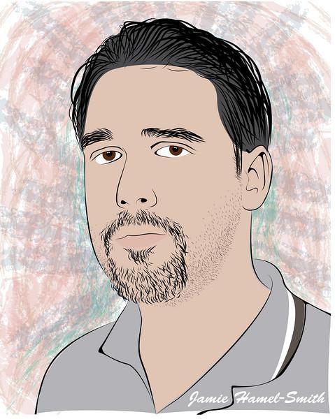 Drawing facial hair illustrator