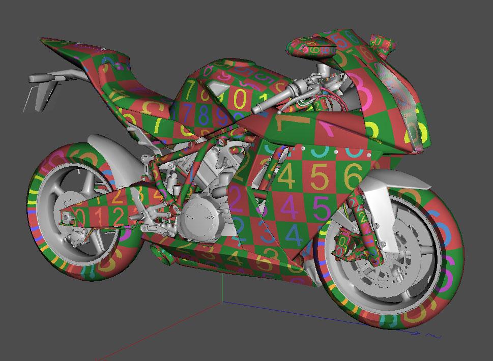 KTM RC8 UV Mapping – jamie3d