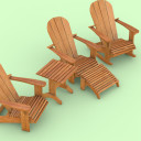 Standard chair, lounger, rocking chair & table