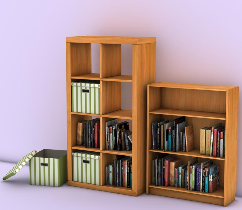 Books & Bookshelves 3D Models
