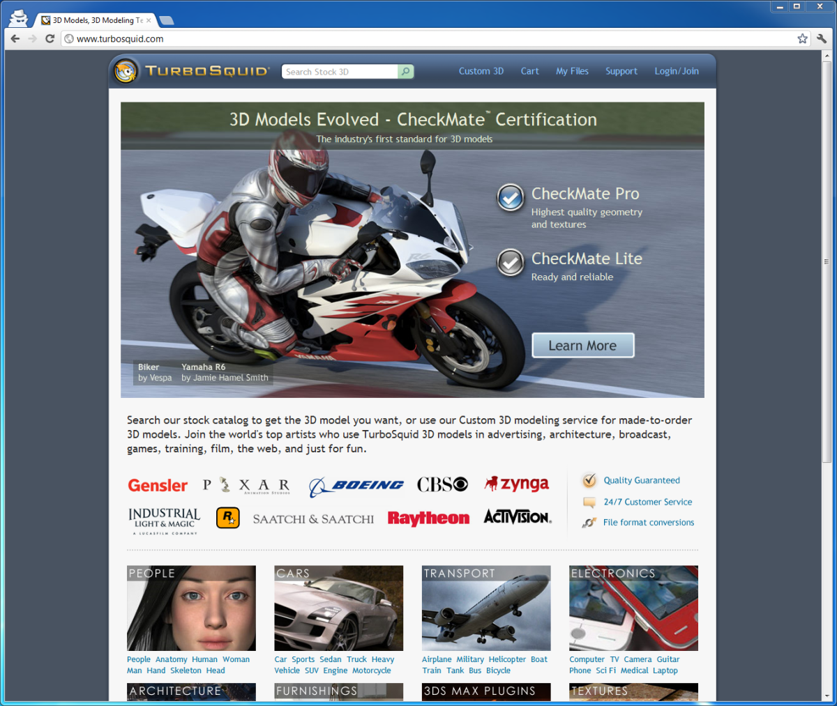 R6 on TurboSquid Home Page