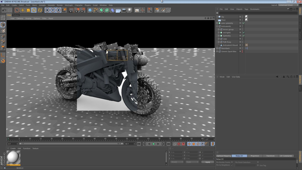 The Razorback – Part 13: Instruments Tweaking and a Test Render