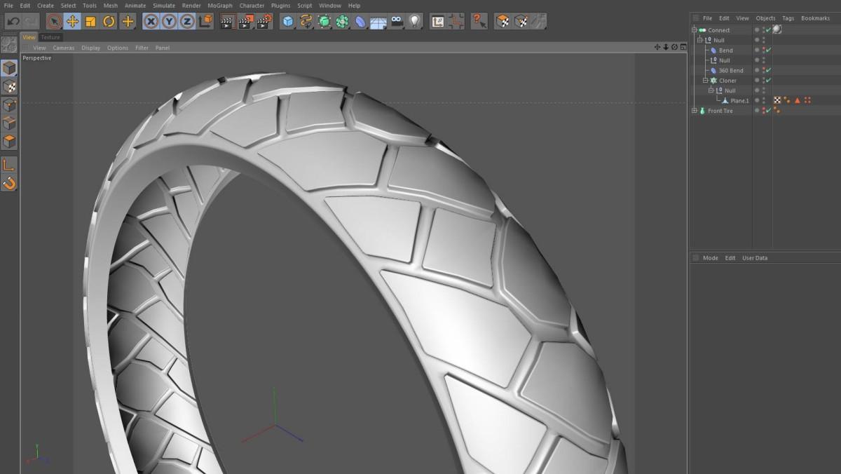 Motorcycle Tire Modeling Using Deformers