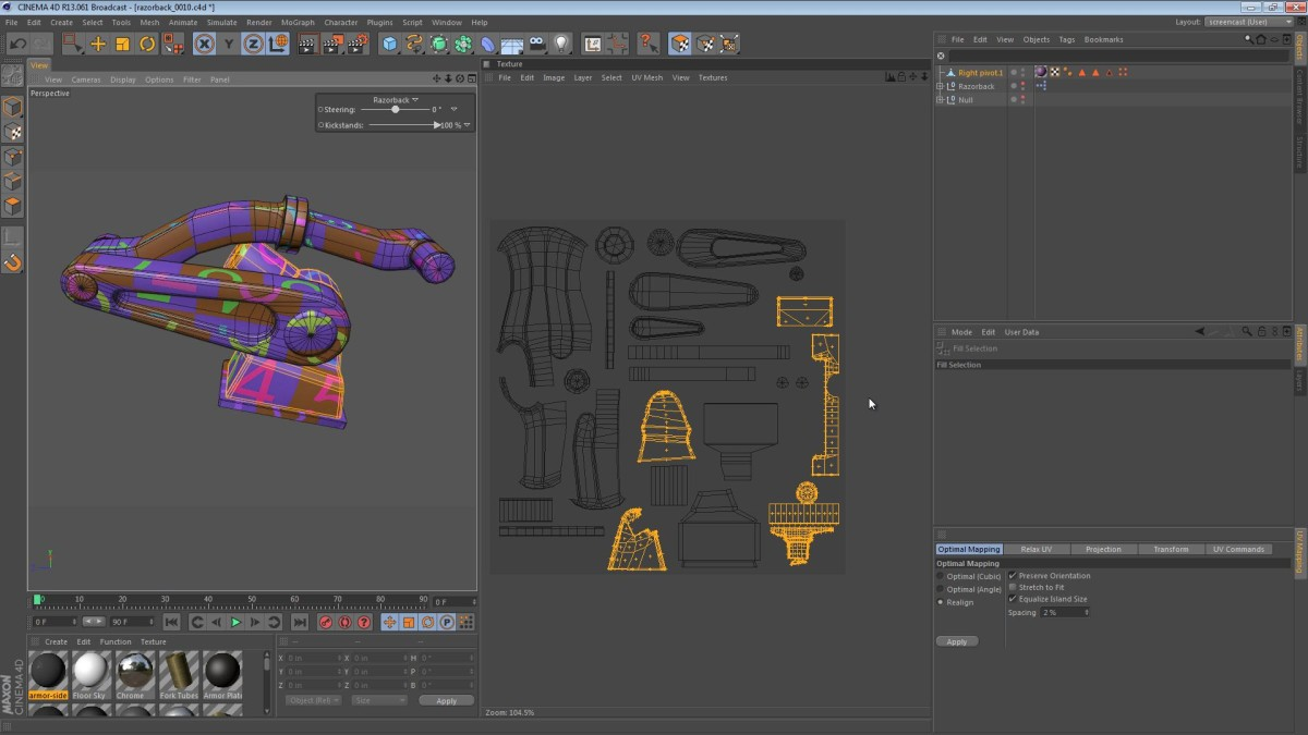 The Razorback – Part 46: Combining The UV Maps Into One Texture Space