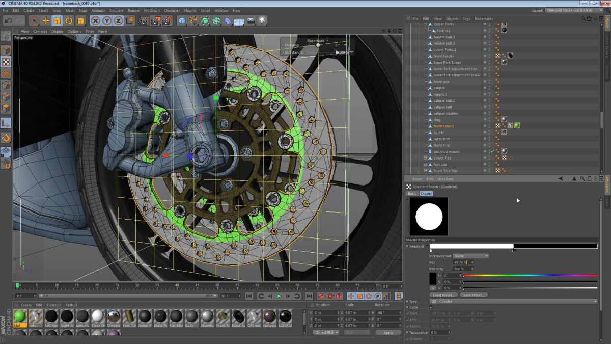 The Razorback – Part 48: Mirroring the Right Arm and Texturing the Rotor